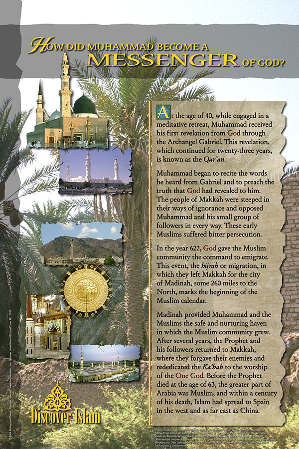 an introduction to the mythology of the prophet of islam muhammad There is muhammad, the general muhammad, the king muhammad, the warrior muhammad, the businessman muhammad, the preacher, muhammad, the philosopher, muhammad, the statesman muhammad, the orator muhammad, the reformer muhammad, the refuge of orphans muhammad, the protector of slaves.