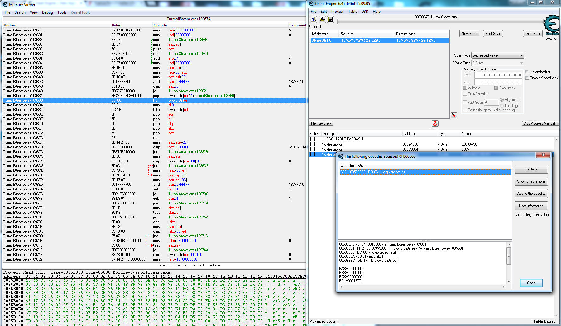 Cheat Engine :: View topic - A little help on hacking Turmoil