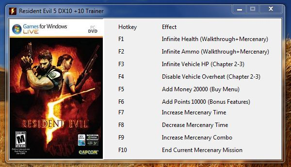 Screens Zimmer 3 angezeig: resident evil 5 trainer download