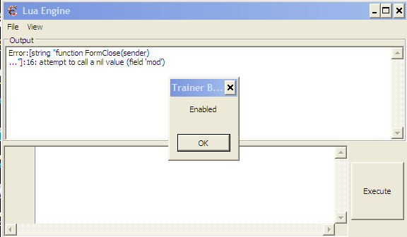 Cheat Engine :: View topic - CE 6 5 attempt to call a nil
