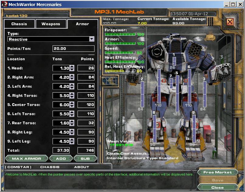 MechWarrior 4: Mercenaries - MekTek - FearLess Cheat Engine