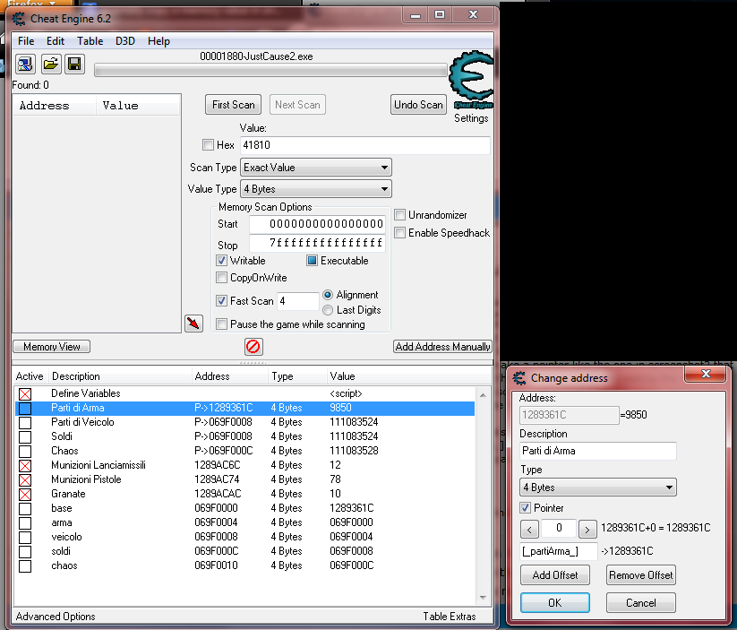 Cheat Engine :: View topic - Cheat Engine and Just Cause 2 [Steam]