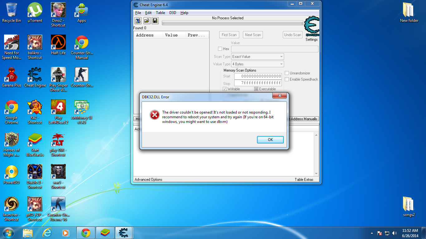 Cheat Engine :: View topic - DBK32.dll error