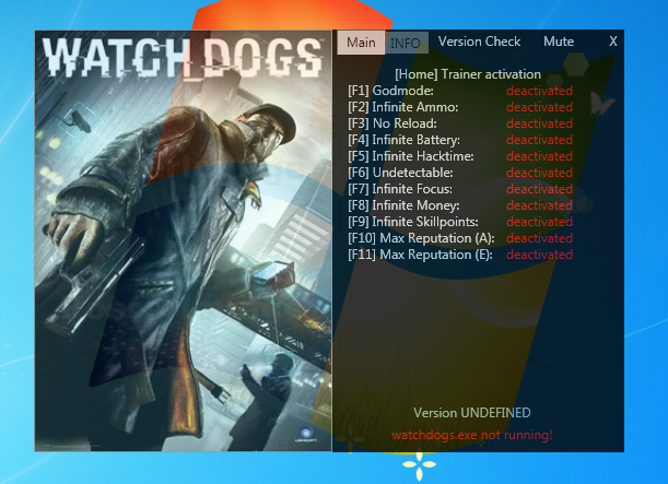 Watch Dogs  V     Trainer Home Game