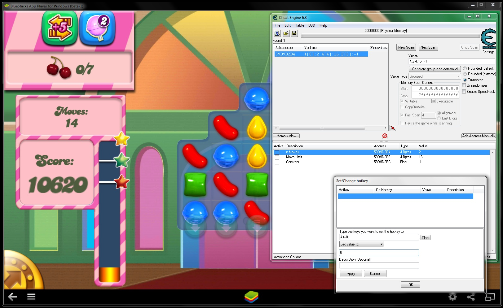 Cheat Engine :: View topic - Memory address for BlueStacks